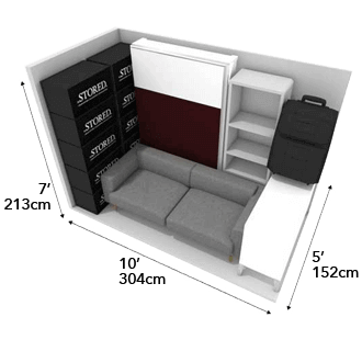 50 square foot storage unit